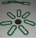 Oval Plastic Links Green ONLY