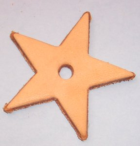 Small Leather Star