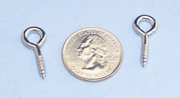 Nickel Plated Screw Eye, Small