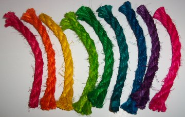 10ft Colored Sisal Rope, 3/8