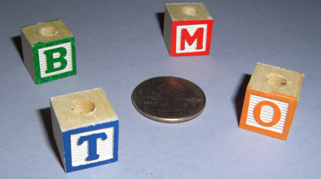 15mm Painted Alphabet Blocks (15pcs)
