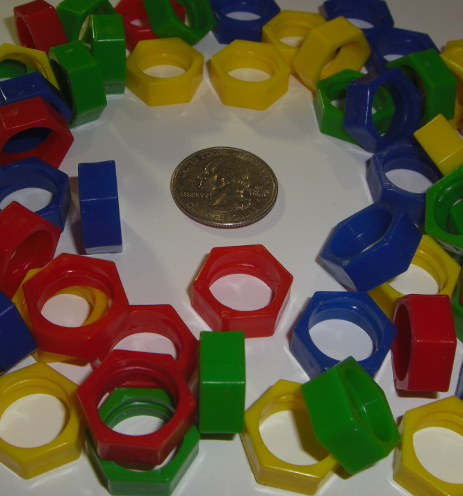 Plastic Hexagon Beads