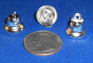 Nickel Plated Liberty Bell, 14mm