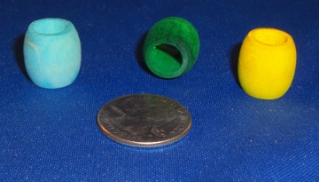 Medium Wood Barrel Beads (each)