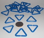 Triangular Plastic Links Blue ONLY