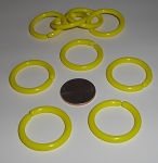 Circular Plastic Links Yellow ONLY