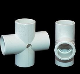 Drilled PVC Cross