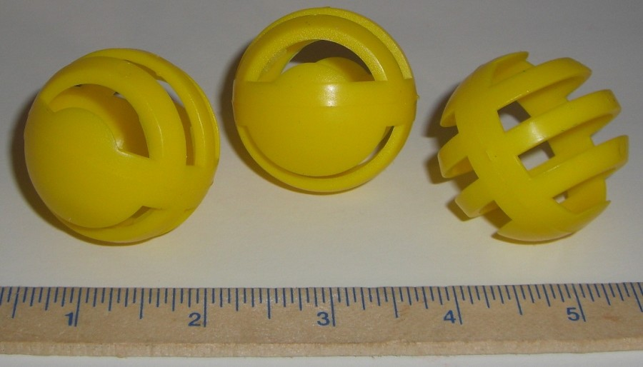 "2"" Slotted Ball Yellow"