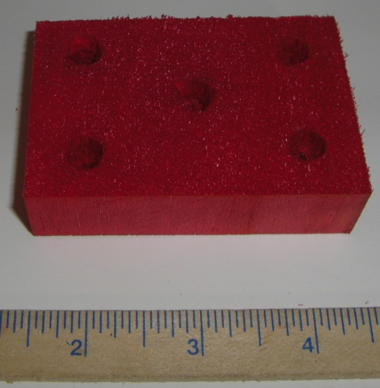 "3"" x 2"" Balsa Rectangle with 5 Holes"