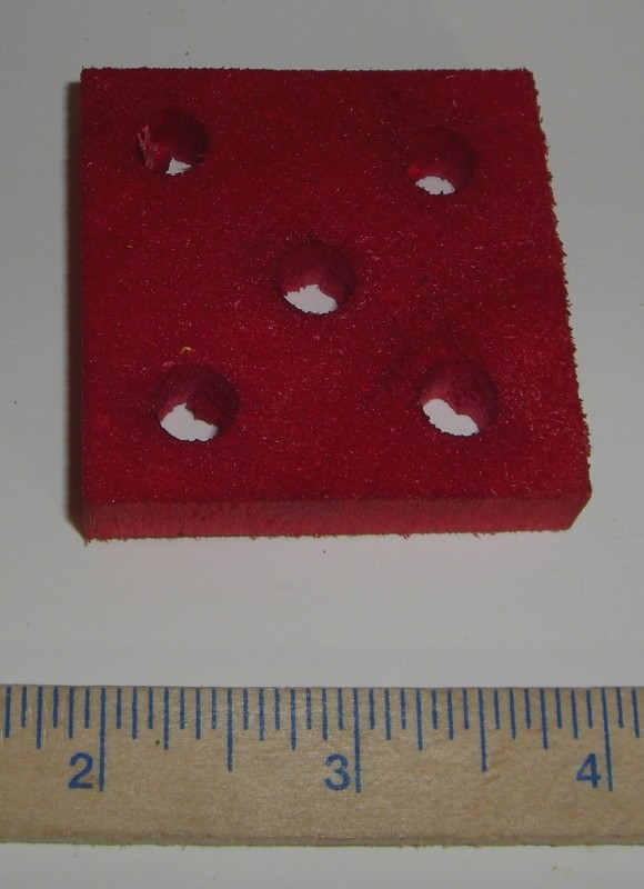 "2"" Balsa Square with 5 Holes"