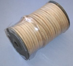 "Round Leather Lace Spool, 3/16"" x 82'"