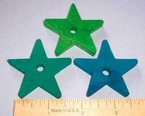 "Wood Star, 2"" (thin)"