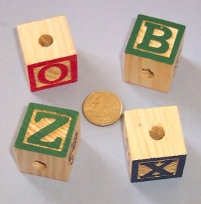 30mm Painted Alphabet Blocks (15pcs)